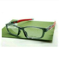 frame kacamata oakley crosslink grey smoke red