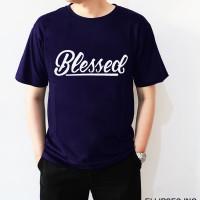 Tumblr Tee / T-Shirt / Kaos Pria Lengan Pendek Blessed Navy