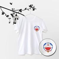 Tumblr Tee / T-Shirt / Kaos Wanita Lengan Pendek Pocket Doraemon Putih