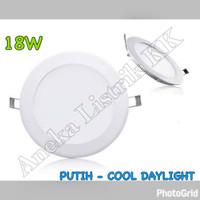 LAMPU DOWNLIGHT PANEL LED 18w PUTIH BULAT 18watt TIPIS PLAFON RUMAH