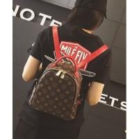 Tas Punggung Keren Maroon Merah Import Ransel Murah Backpack Wanita