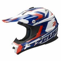 Helm Moto Cross Zeus ZS951 Red White Blue