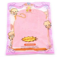 squishy pink slice toast bread sanqielan original packging slow rising