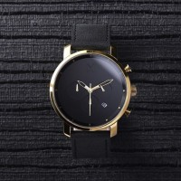 Jam Tangan MVMT Chrono Gold/Black Leather Original   Jam Tangan Pria