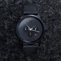 Jam Tangan MVMT Chrono All Black Leather Original   Jam Tangan Pria