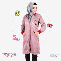 Jaket Wanita Muslimah / Sweater Resleting Bordir (Premium Edition)