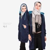 Jual Jaket Wanita Muslimah / Sweater Fleece Hoodie (Premium Edition) Murah