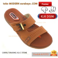 No34 Carvil Tunjung G 352 T Stone Sandal Anak Flat Slip Slop On Casual