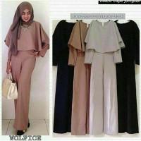 Zaskia Cape Jumsuit Baju Atasan Hijab Murah Fashion Wanita Muslim