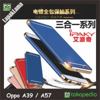 Case iPaky New Generation Oppo A39 / A57 Hard Back Case Casing 3 In 1