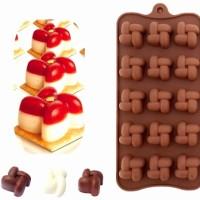 Jual Cetakan silikon coklat es puding silicone model unik 15 pcs Murah