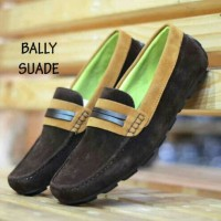 Sepatu Formal Cassual Cowo Men Laki Pria Bally Moccasin Suede Coklat