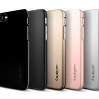 Jual = [SPIGEN !!] Thinfit CASE For iPhone 7 WARNA : JET BLACK -- CASING = Murah