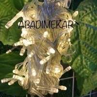 Lampu Led Natal/Lampu Hias/Dekorasi/warna kuning+colokan sambungan 002
