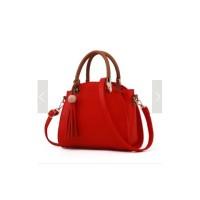 Tas Wanita Import IC86884 Red Handbag Korea Casual Fringe Rumbai H&M