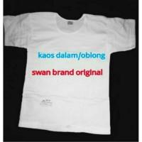 Jual Kaos Dalam Oblong T-Shirt SWAN BRAND Size 34 36 38 40 42 Murah