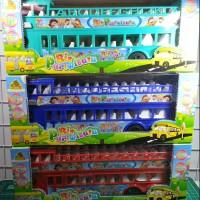 Mainan Mobil Bis Pariwisata bus tingkat