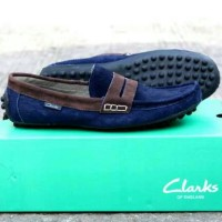 SEPATU CLARKS HOT BEST PROMO TRUSTED DISKON kulit suade slop men shoes