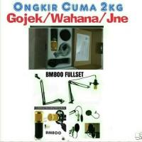(BM800 Fullset) - Paket Profesional Microphone Home Recording Studio