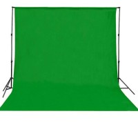 Background foto kain hijau polos 2,7x3M