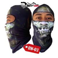 balaclava full face skull 3d (masker balaclava, buff ninja Berkuali