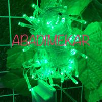 Jual lampu led natal/lampu hias/dekorasi/warna hijau + colokan sambungan.08 Murah