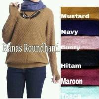 Jual Baju Atasan Muslim Wanita / Sweater Rajut Wanita [NANAS ROUNDHAND] Murah