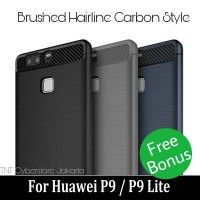 Brushed Case Carbon P9 / P9 Lite Huawei Hairline Softcase Silicon