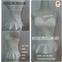 bustier model flare bahan polyester