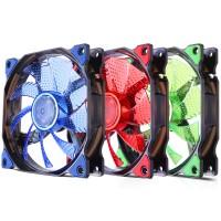 Fan casing YF12 - 12cm kipas casing cpu / pc 15 lampu LED