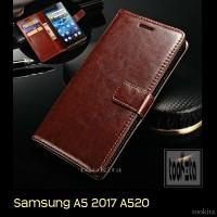 Jual Samsung Galaxy A5 2017 A520 Retro PU Leather Flipcase Luxury Wallet Murah