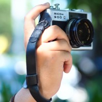 Jual Tali Wrist Strap / Hand Strap HITAM KULIT SAPI ASLI Kamera Mirrorless Murah