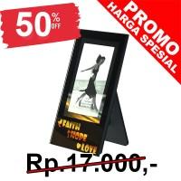 Bingkai Foto kaca / Mirror Glass Photo Frame Faith Hope Love TF13034M 3.25x2.25 (07742)