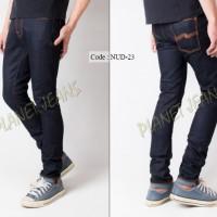 Celana Jeans / dry denim Nudie Model Skinny / Pensil Cowok - NUD23
