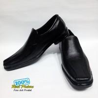 Sepatu pantofel pria bahan semi kulit istimewa grosir online pengrajin