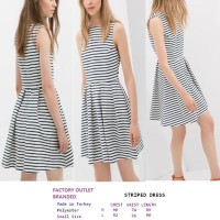 STRIPED DRESS. Made in Turkey - FACTORY OUTLET BRANDED JAKARTA