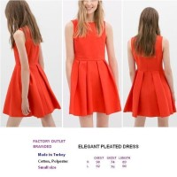 ELEGANT PLEATED DRESS. Made in Turkey - FACTORY OUTLET BRANDED
