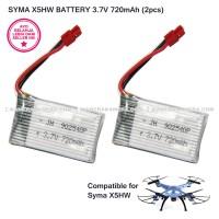 SYMA Baterai X5HW X5HC RC Quadcopter Parts 3,7V 720mah battery (2pcs)