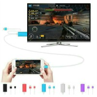CONVERTER LIGHTNING TO HDMI DIGITAL TV AV LCD KABEL IPHONE IPAD MINI
