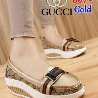 SLIP ON GUCCI / FLAT SHOES GUCCI / WEDGES GUCCI DE41 GOLD