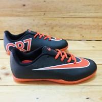 sepatu futsal anak nike cr7 black oranye size.32-37 original premium