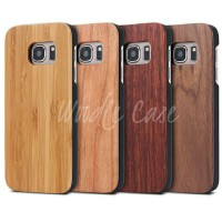 Genuine Wooden Hardcase Casing Hp Samsung Galaxy S7/S7 Edge Wood Case