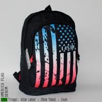 harga Get1608 Tas Ransel Pria Bendera American Flag Amerika Denim Tokopedia.com