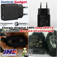 Charger Original Sony Uch12 Fast / Quick Charging & Pump Express Plus