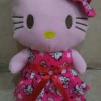 Boneka Hello Kitty Gaun Topi Dress Size L