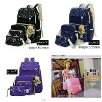 Backpack Star 3in1 / Bagpack Converse tutup / Tas Ransel Sekolah