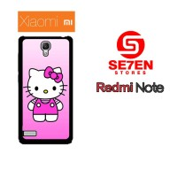 Casing HP Xiaomi Redmi Note 1 Cute Hello Kitty 2 Custom Hardcase Cover