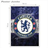 Poster Jumbo: LOGO CHELSEA FC #FCL42 - 50 x 70 cm