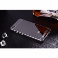 Jual Xiaomi Redmi 3 Mirror Bumper Casing Cover Case Free Tempered Glass Murah