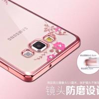 Samsung J710/ J72016 Casing Silicon Flower Bling Soft Case Diamond